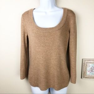 Tory Burch Merino Wool Boatneck Scoop Neck Sweater